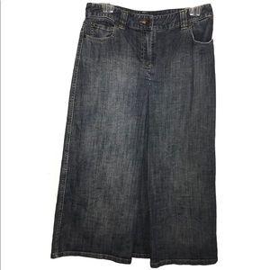 MICHAEL KORS Long Maxi Length Denim Skirt